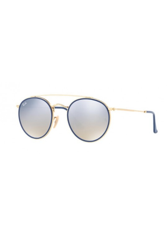 e3388137c ÓCULOS DE SOL RAY-BAN UNISSEX ROUND DOUBLE BRIDGE RB3647N 001/9U 51 ...